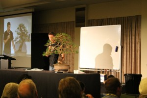 Discussing the work and the trees future.