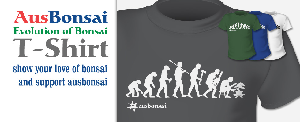 AusBonsai 'Evolution of Bonsai' T-Shirt